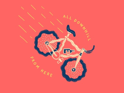 All Downhill From Here bicycle downhill fixed gear bike