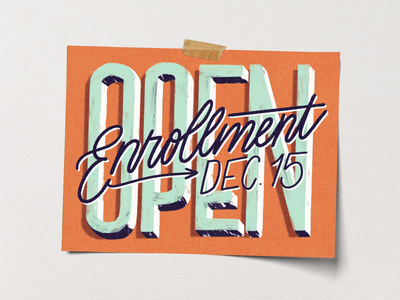 Dec. 15 Deadline typography obamacare aca care health affordable lettering