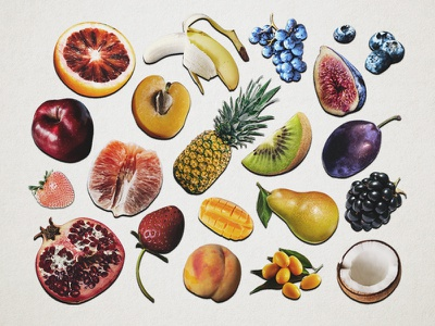 Fresh & Fruity food fruits rainbow lgbt layout photomontage collage