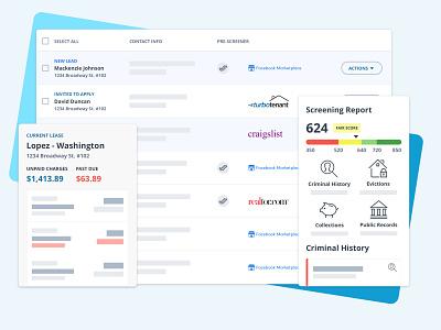 TurboTenant Blockframe Screenshots rentals dashboad visual design ui blockframe