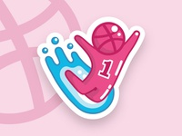 Be Free Dribbble Sticker