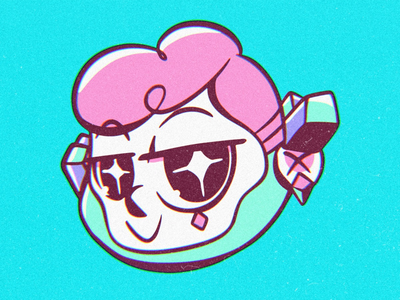 Oh! Valentino New Logo diamond crystal quartz boy comic character illustration logo ohvalentino
