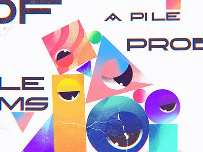 PROBLEMS. CONCEPT. 🟥🟣🔶 shapes procreate