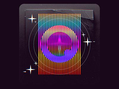 Technicolor Quartz Projection. Concept III ✨ gradient colorful artwork album music cover