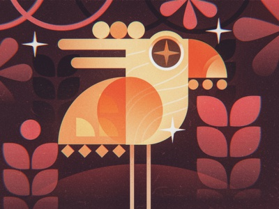 Big Bird Jungle jungle book shapes abstract vector bird jungle