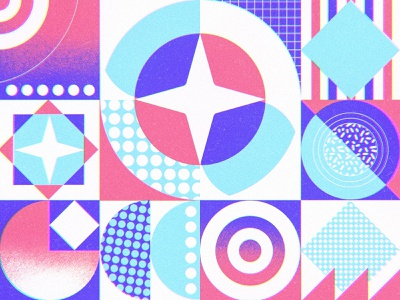 Oh! Valentino Geometric Concept background pattern eye vectorial shapes abstract