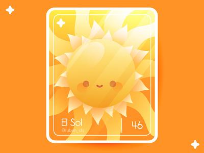 The Sun ☀️ sol sun loteriayamix cutecharacter loteriamexicana mexico ohvalentino card cute kawaii loteria