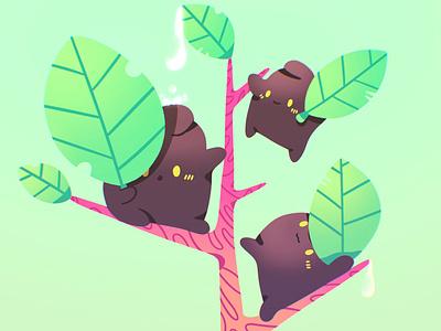 Leaves eaters. 🌱☘️✨ leaves plants cute procreate illustration