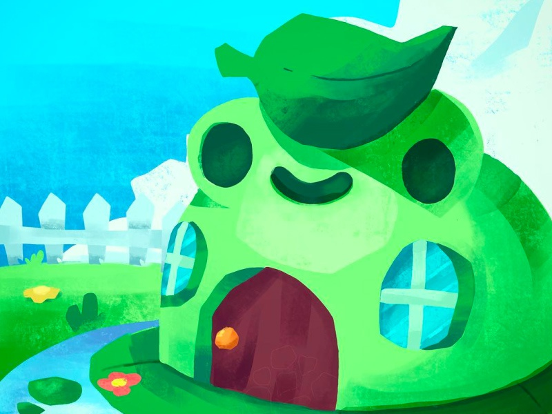 Pound Clawtown cute kids sky house clawtown frog pound illustration character beargara