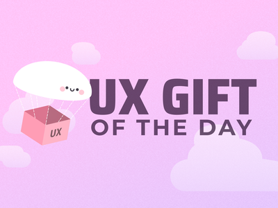 UX Gift of the Day (v2) illlustration iteration