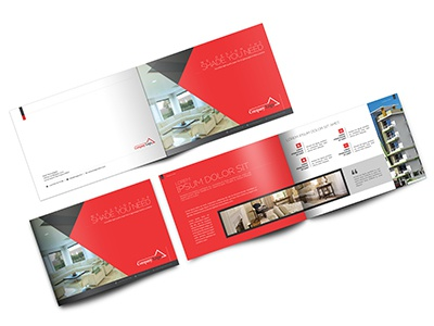 landscape brochure template mockup by mukul munir dribbble