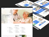 Old Care Psd Template