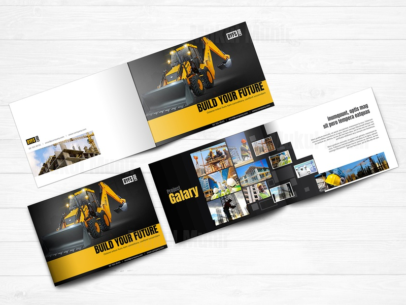 Construction brochure brochure design construction bifold brochure construction horizontal brochure construction brochure clean brochure mockup brochure booklet