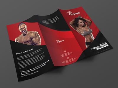 Fitness trifold brochure brochure layout fitness brochure brochure template brochure mockup flyer folded brochure leaflet red black brochure fitness trifold brochure trifold brochure brochure