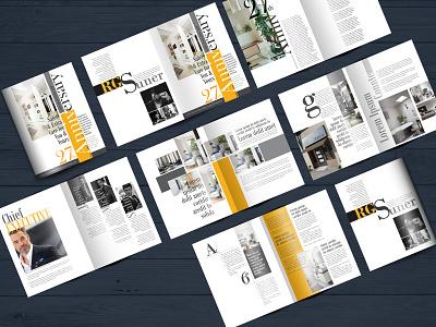 Magazine design print multi page brochure brochure bifold brochure minimalist brochure minimalist magazine annual report report magazine design magazine