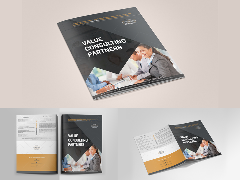 Corporate bifold brochure brochure template brochure layout brochure mockup brochure design clean annual report company profile corporate brochure bifold brochure