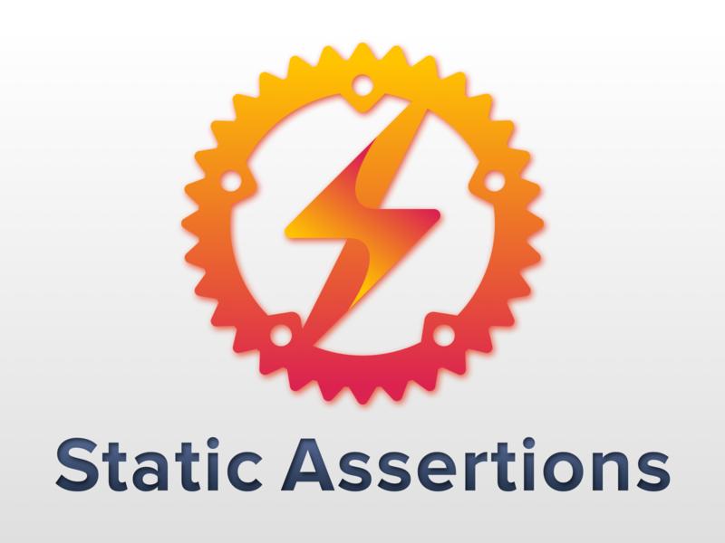 Static Assertions library logo testing assert rust 2d gradient 2018