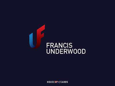 Francis Underwood logo study exploration frank house of cards
