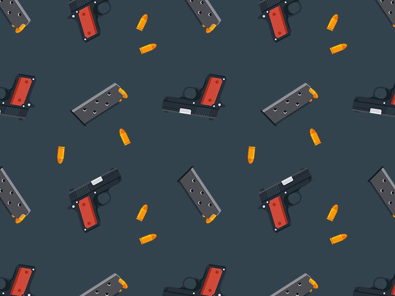 Gun pattern colt guns ui flat magazine bullet pattern weapon