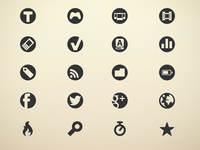 Icon set for a news website