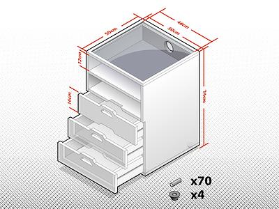Small Cabinet glass wood instructable ssr isometric diy vector phantasm ikea