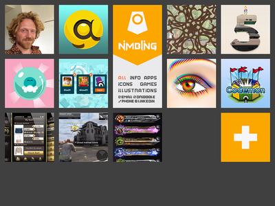 Nimbling portfolio website rainbow css