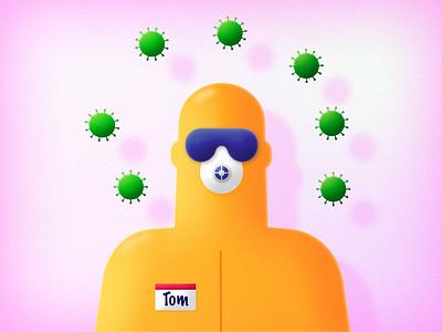 Virus attack 🦠 after effects character faux 3d 2.5d headrig joysticks n sliders 2d animation covid19 covid-19 quarantine attack corona coronavirus