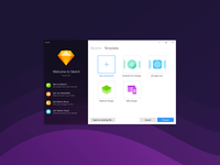 An impossible dream. Sketch forWindows - Start screen