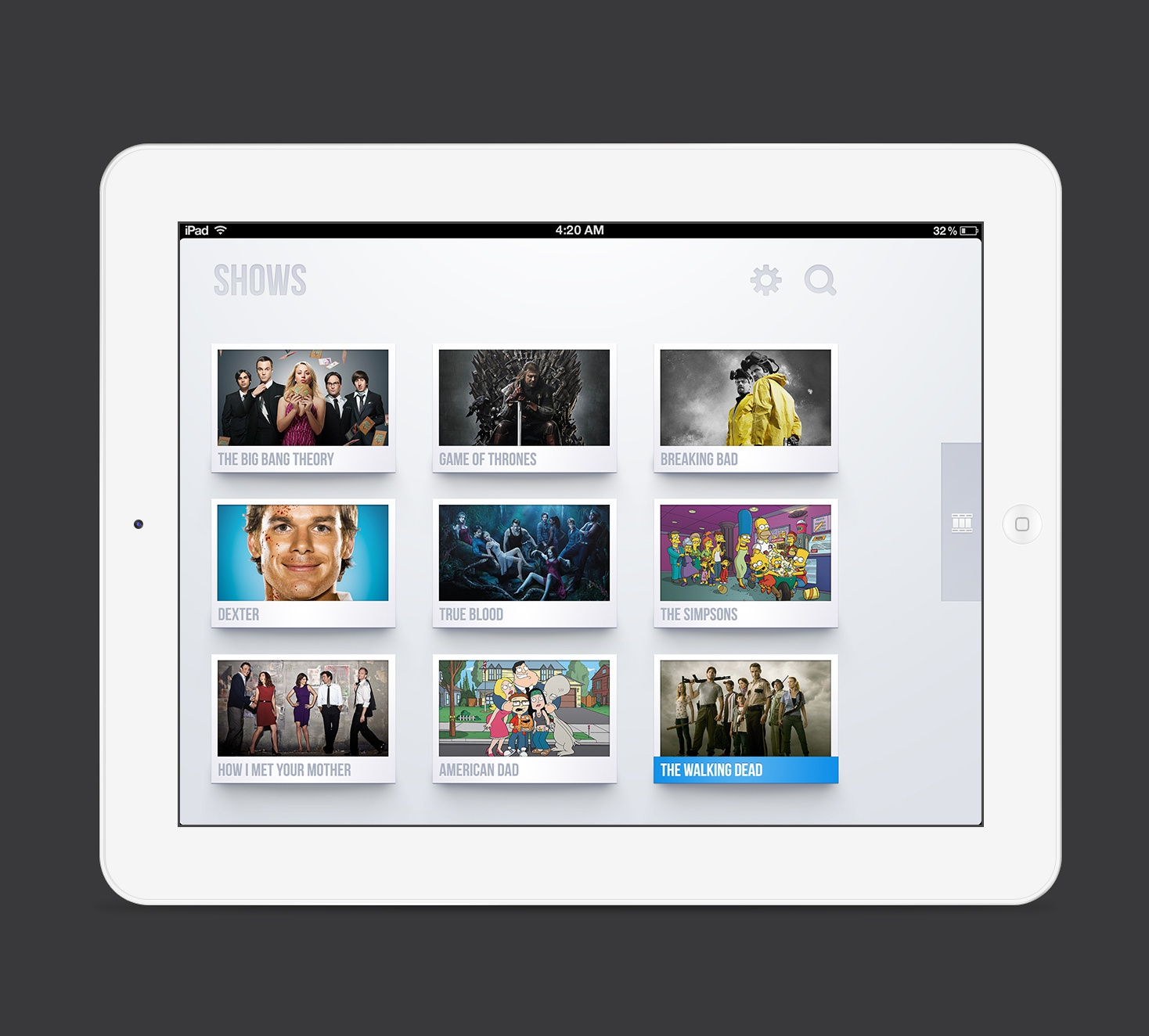Tv shows ipad