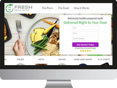 Fresh Meal Plan app web branding design