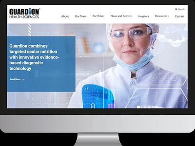 Guardian Health Sciences logo app web design