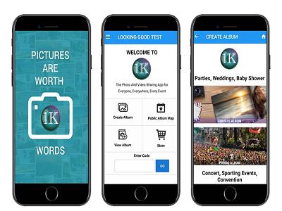 1K App logo branding web illustration app