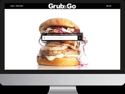 GrubToGo ux branding web illustration app