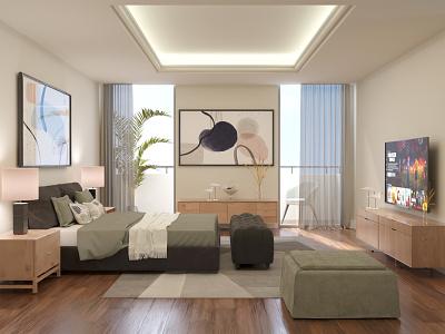 Contemporary Style Bedroom 3d visualization interior design 3dsmax 3d design 3d modeling