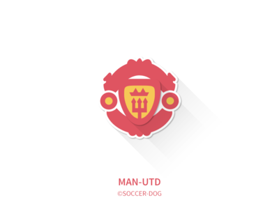 Manchester United premier league soccer logo badge flat minimalist manchester united
