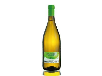 Ouro Verde - Vinho Verde - Wine label green watercolor illustration design wine label