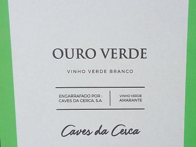 Ouro Verde - Vinho Verde - Shipping box graphic design card box wine card box wine label vinho verde ouro verde shipping box