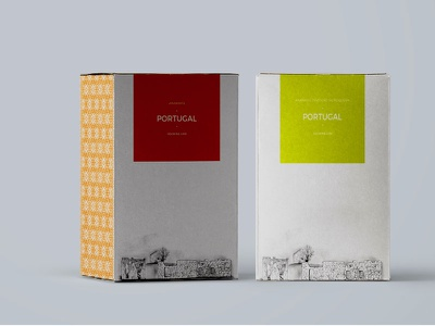 Shipping boxes - Vinho Verde and Douro Doc wine packaging green orange colorful visual identity white proposal project brand ruins draw graphic design