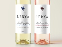 Wine label Lerya white and rose