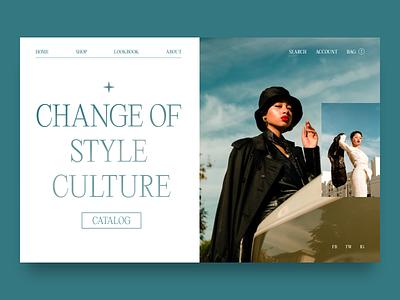 FREYA STYLE ui design minimal fashion style photography