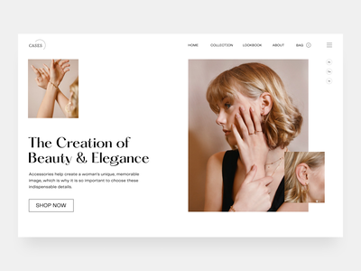 Cases - Jewellery Shop Website website design landing page minimal web product design typogaphy web design ui ux fashion website