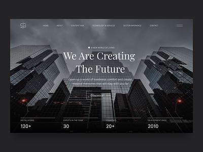 American Real Estate Agency ui typography ux clean web branding minimal website