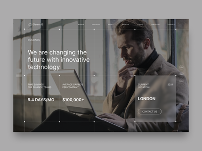NEWORLD. MAIN PAGE fintech website minimal branding web clean ux typography ui