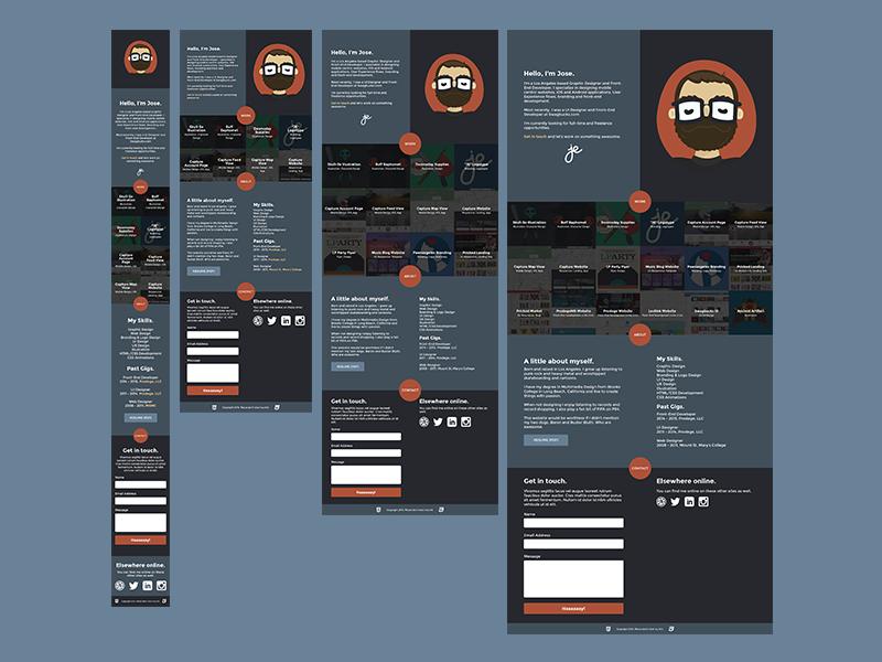 Redesign Update #2 portfolio website responsive one pager sketch redesign xprocrastinationcontest