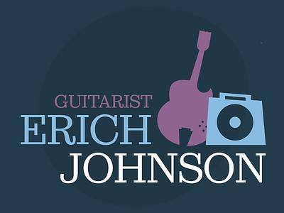 Erich Johnson Illustration muted amp guitar jazz logo illustration