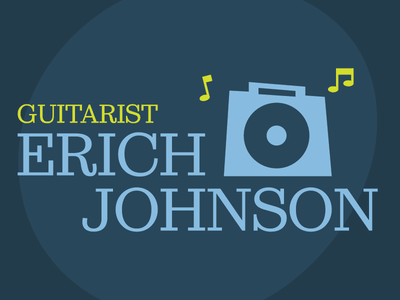 Erich Johnson Jazz Illustration #002 muted amp guitar jazz logo illustration