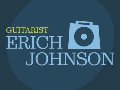 Erich Johnson Jazz Illustration #003 muted amp guitar jazz logo illustration