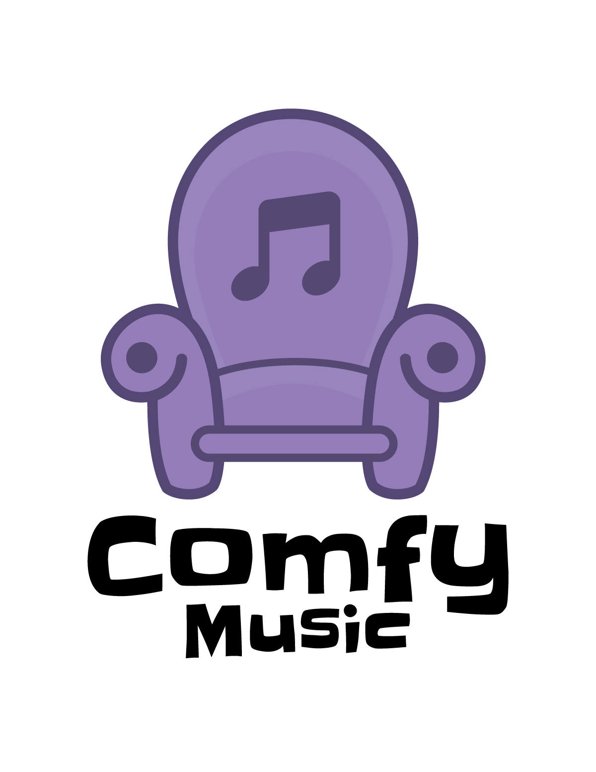 Comfy music logo color purple