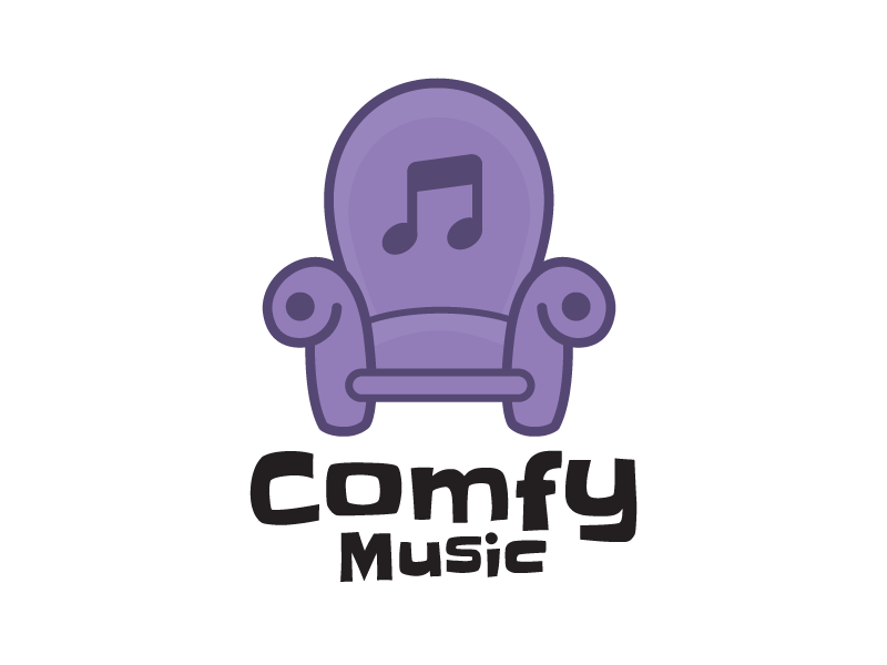 Comfy music logo color purple small