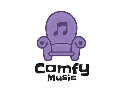 Comfy Music Logo music branding logo